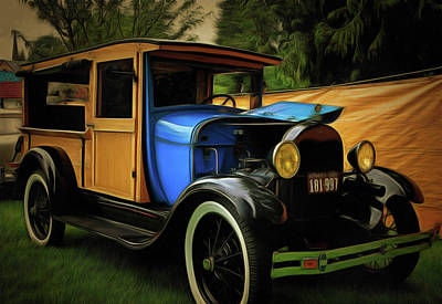 Photograph - 1929 Model A Ford Woody Truck by Thom Zehrfeld