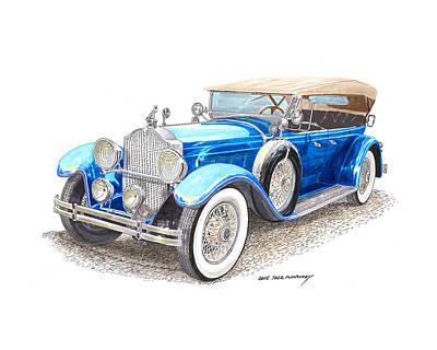 Painting - 1929 Packard Dual Cowl Phaeton by Jack Pumphrey