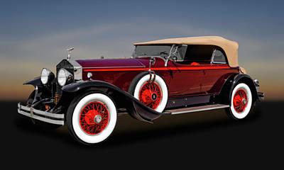 Photograph - 1929 Rolls Royce Convertible  -  1929rollscv102 by Frank J Benz