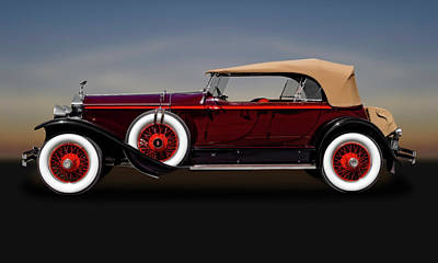 Photograph - 1929 Rolls Royce Convertible  -  29rolls101 by Frank J Benz