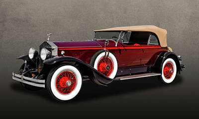 Photograph - 1929 Rolls Royce Convertible  -  29rolls202 by Frank J Benz