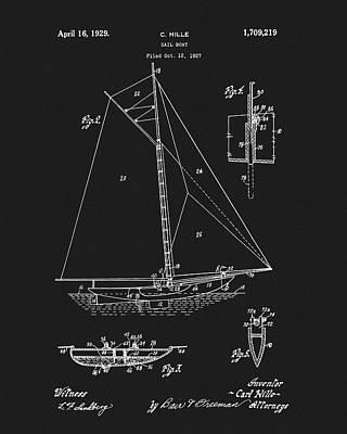1929 Sailboat Art Print