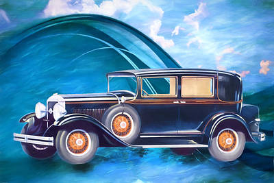Digital Art - 1929 Studebaker Commander by John Haldane