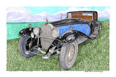 Painting - 1929 Type 41 Bugatti Royal by Jack Pumphrey