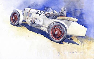 On Paper Painting - 1929 Wikov 7 28 Sport  by Yuriy Shevchuk