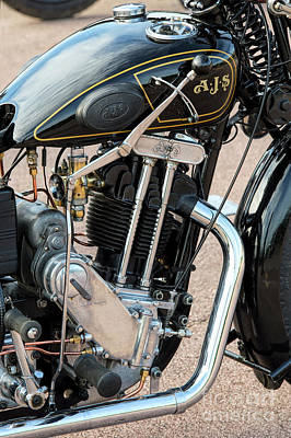 Photograph - 1930 Ajs R8 by Tim Gainey