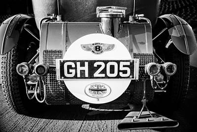 Photograph - 1930 Bentley Speed Six Taillights -0277bw by Jill Reger