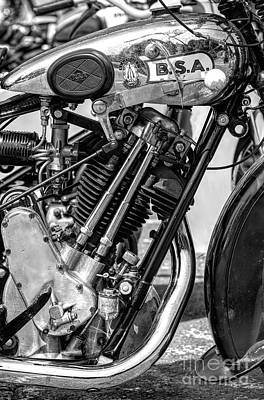 Photograph - 1930 Bsa Sloper Monochrome by Tim Gainey