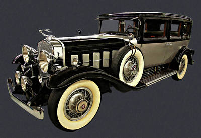 Painting - 1930 Cadillac Imperial Limousine V16 Digital Oil  by Chris Flees
