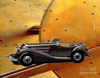Painting - 1930 Classic Speedster by Belinda Threeths