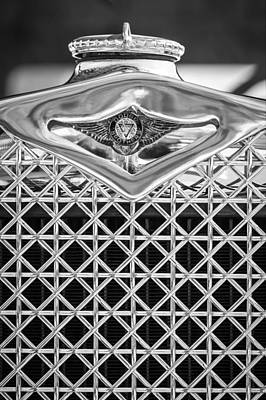 Photograph - 1930 Db Dodge Brothers Hood Ornament And Grille -085bw by Jill Reger