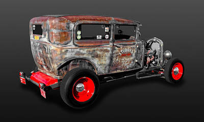 Photograph - 1930 Ford 2-door Sedan Rat Rod   -   30fd2dsdrr800 by Frank J Benz