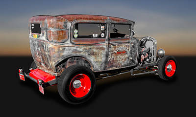 Photograph - 1930 Ford 2-door Sedan Rat Rod   -   30fdsdrr700 by Frank J Benz