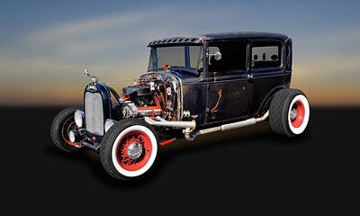 Photograph - 1930 Ford 2 Door Sedan Rat Rod   -   30fdsed327 by Frank J Benz