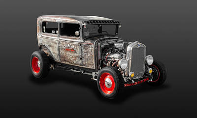 Photograph - 1930 Ford 2-door Sedan Rat Rod  -  30fdsd2d600 by Frank J Benz