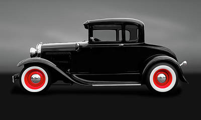 Photograph - 1930 Ford 5 Window Coupe  -  1930ford5wincpegry183838 by Frank J Benz