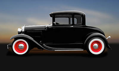 Photograph - 1930 Ford 5 Window Coupe  -  1930ford5windowcoupe183838 by Frank J Benz