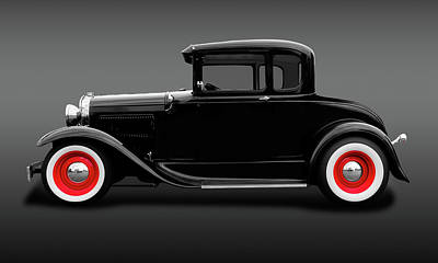 Photograph - 1930 Ford 5 Window Coupe  -  1930ford5windowcoupefa183838 by Frank J Benz