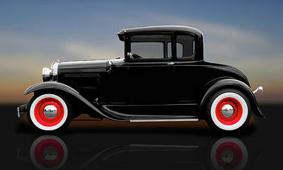 Photograph - 1930 Ford 5 Window Coupe  -  1930ford5windowcperflct183838 by Frank J Benz
