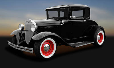 Photograph - 1930 Ford 5 Window Coupe  -  1930fordsteel5wincoupe183835 by Frank J Benz
