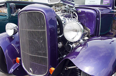 Photograph - 1930 Ford Coup Purple Hot Rod by Glenn Gordon