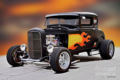 Fruits And Vegetables Still Life - 1930 Ford Daddy-O Coupe I by Dave Koontz
