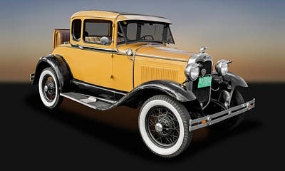Wire Wheels Photograph - 1930 Ford Model A 5 Window Coupe  -  1930fdmda9305 by Frank J Benz