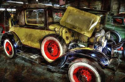 Photograph - 1930 Ford Model A Convertible by Thom Zehrfeld