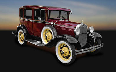 1930 Ford Model A Fordor Town Sedan  -  1930fd2doorsed9869 Art Print