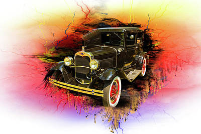 Digital Art - 1930 Ford Model A Original Sedan 5538,04 by M K Miller