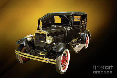 Photograph - 1930 Ford Model A Original Sedan 5538,05 by M K Miller