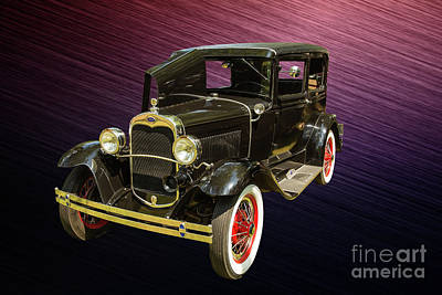 Photograph - 1930 Ford Model A Original Sedan 5538,06 by M K Miller