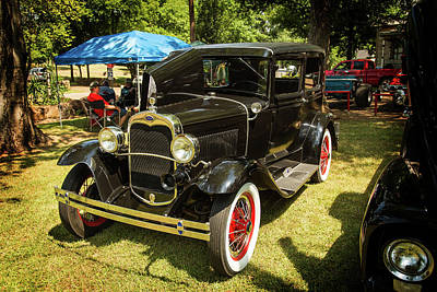 Photograph - 1930 Ford Model A Original Sedan 5538,07 by M K Miller