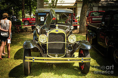 Photograph - 1930 Ford Model A Original Sedan 5538,10 by M K Miller