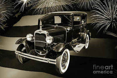 Photograph - 1930 Ford Model A Original Sedan 5538,16 by M K Miller