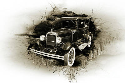 Photograph - 1930 Ford Model A Original Sedan 5538,17 by M K Miller