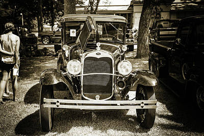 Photograph - 1930 Ford Model A Original Sedan 5538,21 by M K Miller
