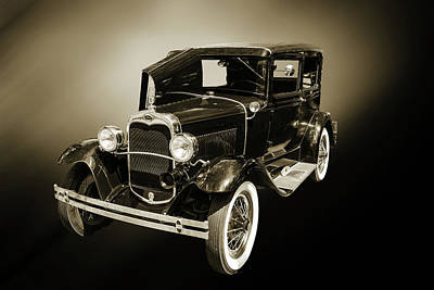 Photograph - 1930 Ford Model A Original Sedan 5538,27 by M K Miller