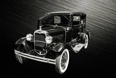 Photograph - 1930 Ford Model A Original Sedan 5538,28 by M K Miller