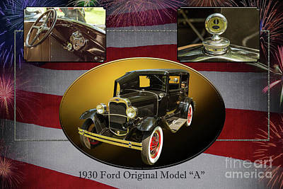 Photograph - 1930 Ford Model A Sedan Original 5538,30 by M K Miller