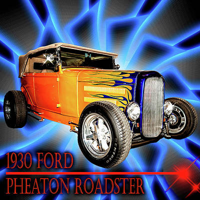 Photograph - 1930 Ford Pheaton Roadster by Scott Cordell