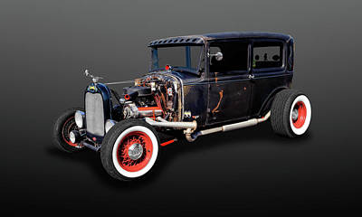 Photograph - 1930 Ford Rat Rod Sedan  -  30fdsedan427 by Frank J Benz