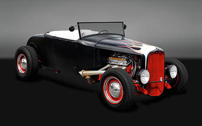 Photograph - 1930 Ford Roadster  -  1930fdrdstrgry0163 by Frank J Benz