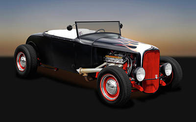 Photograph - 1930 Ford Roadster  -  1930fordroadster0163 by Frank J Benz