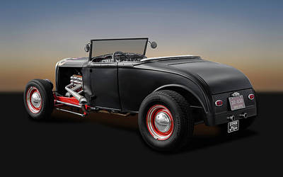 Photograph - 1930 Ford Roadster   -   1930fordroadster170368 by Frank J Benz
