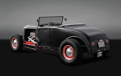 Photograph - 1930 Ford Roadster  -  1930fordroadstergry170368 by Frank J Benz