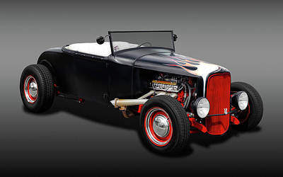 Photograph - 1930 Ford Roadster  -  30fordroadsterfa0163 by Frank J Benz
