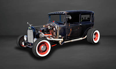 Photograph - 1930 Ford Sedan Rat Rod  -  30fdsedrr527 by Frank J Benz
