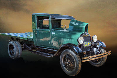 Photograph - 1930 Ford Stakebed Truck 5512.02 by M K  Miller