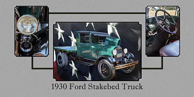Photograph - 1930 Ford Stakebed Truck 5512.05 by M K  Miller